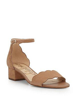 bf504663975a Sam Edelman Inara Scallop Block Heel Sandals