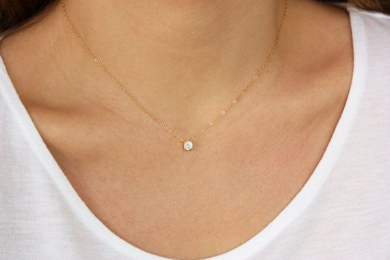 delicate gold pin solid tiny pendant set necklace dainty star pearl