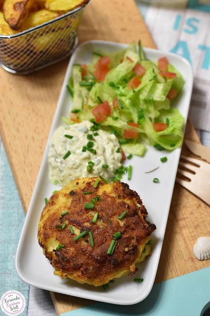 """Photo of Fish cakes with dip """"a la remoulade"""""""