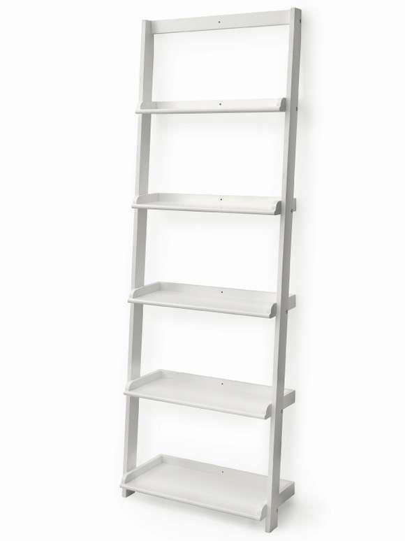 White Wooden Shelf Ladder Lily S Bedroom Pinterest Shelves And