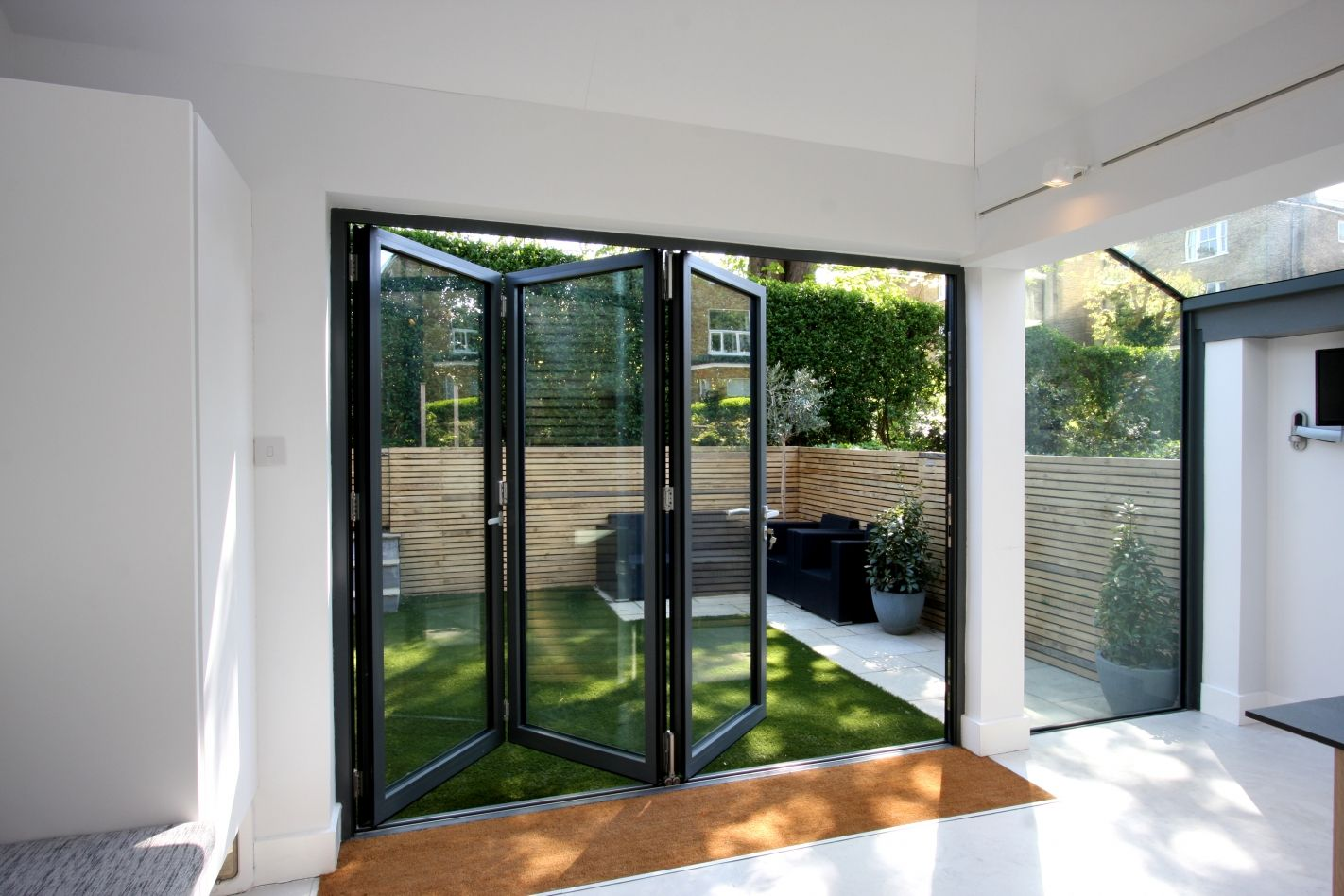 Aluminium Bi Fold Doors To Modern Rear Extension In London Project