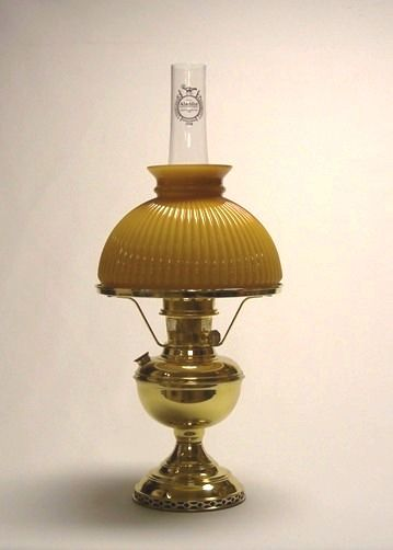 Deluxe brass table lamp w303 10 amber ribbed shade aladdin deluxe brass table lamp w303 10 amber ribbed shade aladdin mantle lamps aloadofball Image collections
