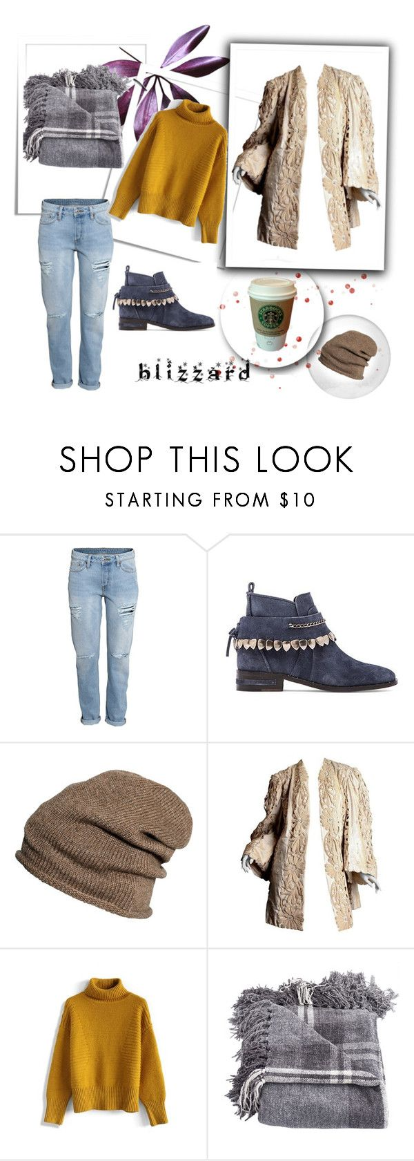 """""""hot coffee"""" by redapplecigarettes ❤ liked on Polyvore featuring H&M, Freda Salvador, MANGO, Chicwish and blizzard"""