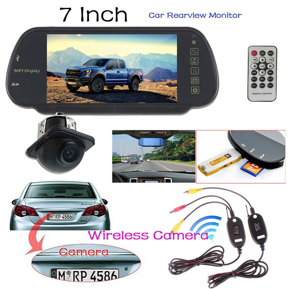 Car color kit - Car Rearview Parking Kit 7 Inch Tft Lcd Color Screen Car Rear View Monitor Backup