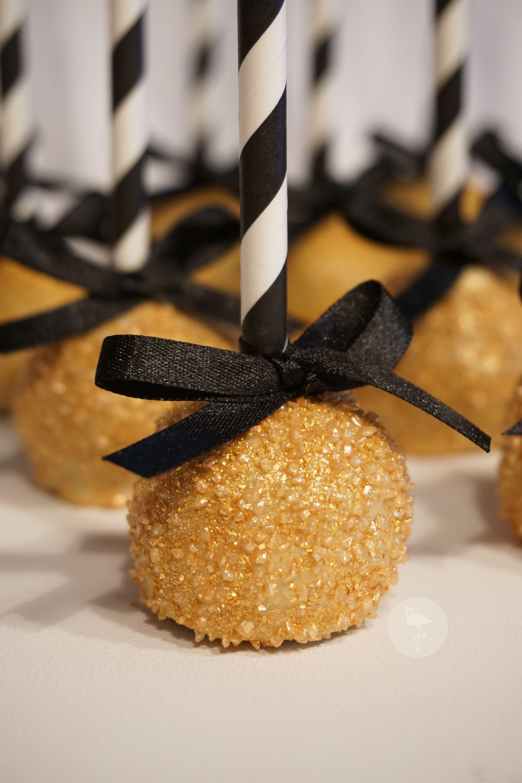 Sensational Black White And Gold Cake Pops Gold Graduation Party Funny Birthday Cards Online Inifodamsfinfo