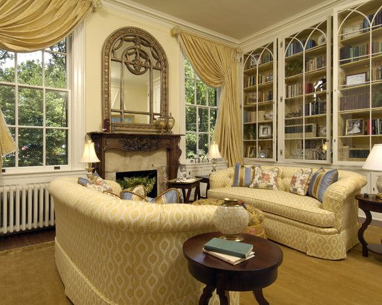 Bedroom Design Elegant Traditional Family Room With Goldenrod