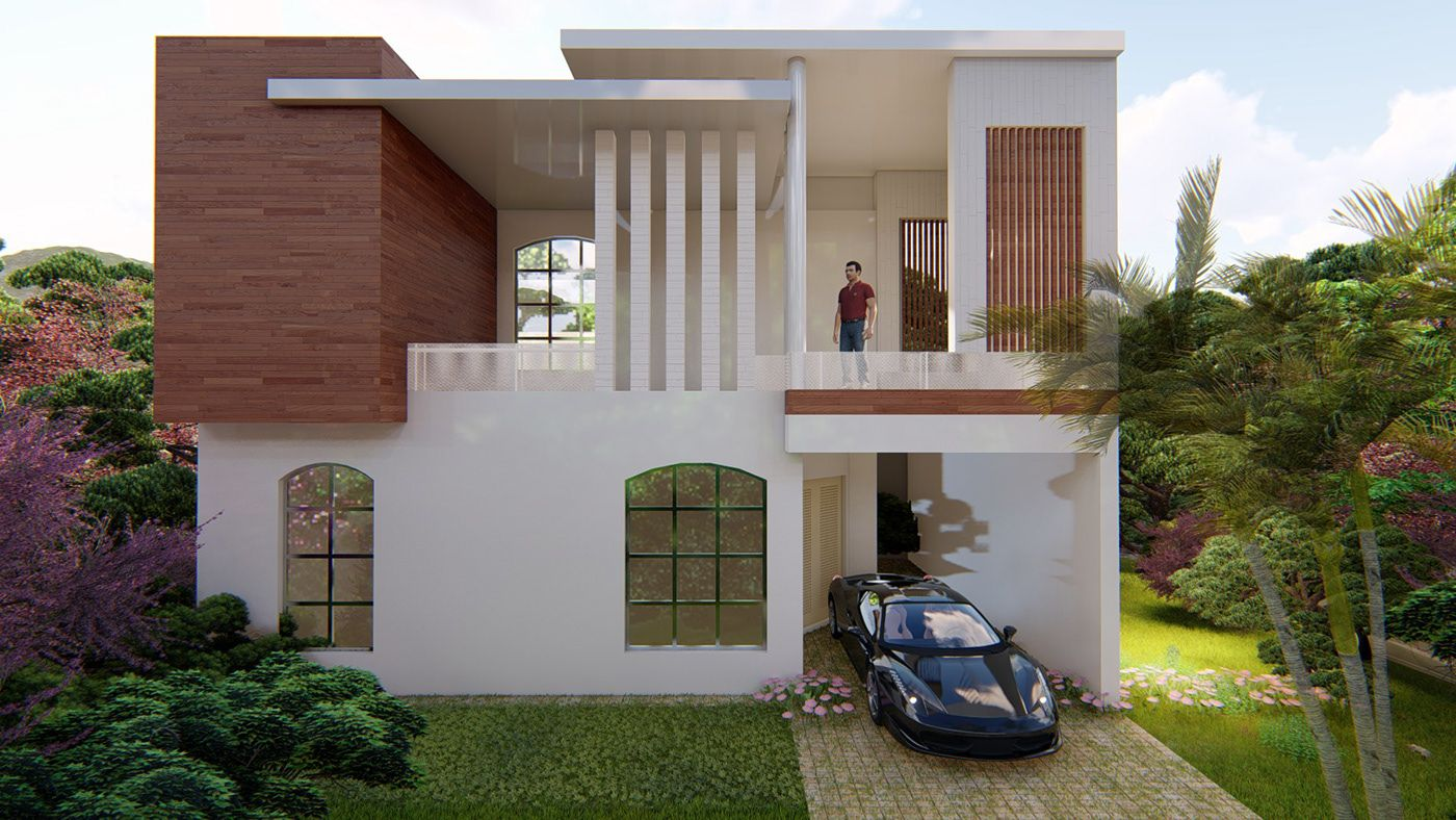 Renovation Facade House Renovation Exterior Design On Behance Architecture Design