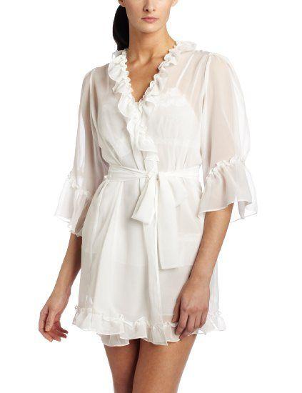 To get ready in  42.22 Amazon.com  Betsey Johnson Women s Chiffon Robe   Clothing b35b1454f
