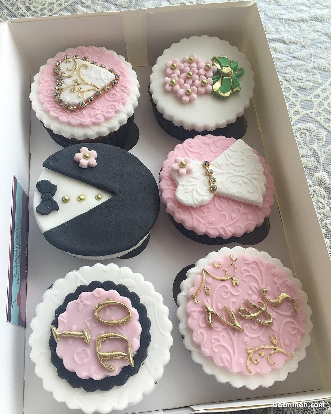 کاپ کیک های شیک بزم نامزدی Desserts Cake Food