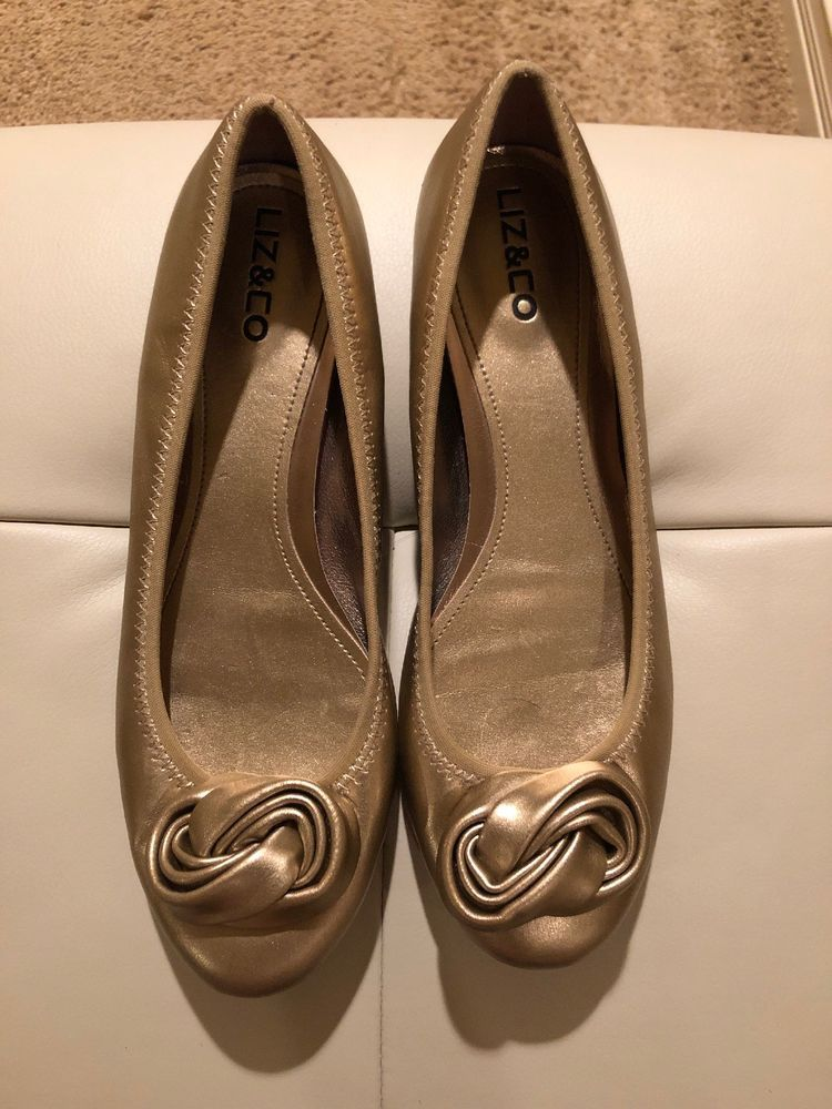 9238043762bc Womens Liz   Co Gold Ballet Flats Size 8M  fashion  clothing  shoes   accessories  womensshoes  flats (ebay link)