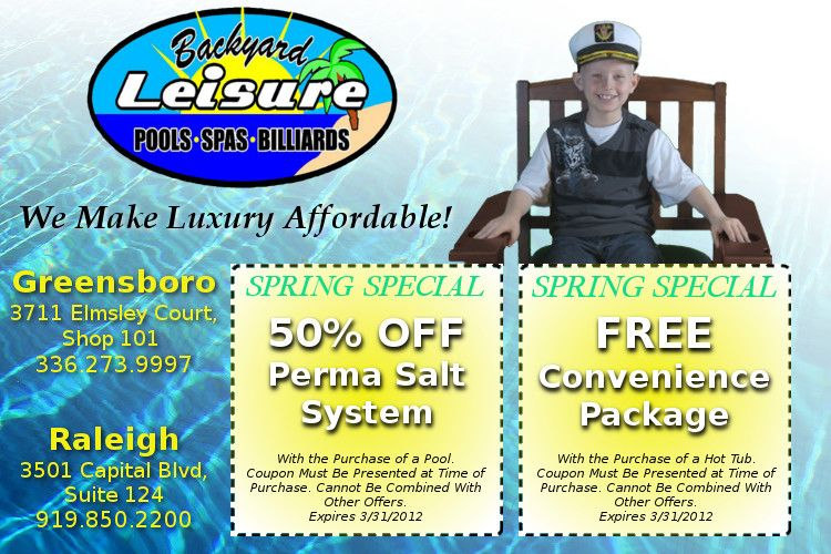 Spring Special At Backyard Leisure 50 Off Perma Salt
