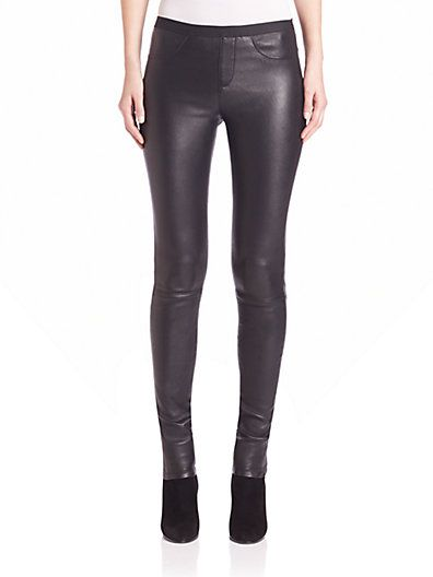 7869244597c265 HELMUT LANG Stretch-Leather Leggings. #helmutlang #cloth #leggings ...
