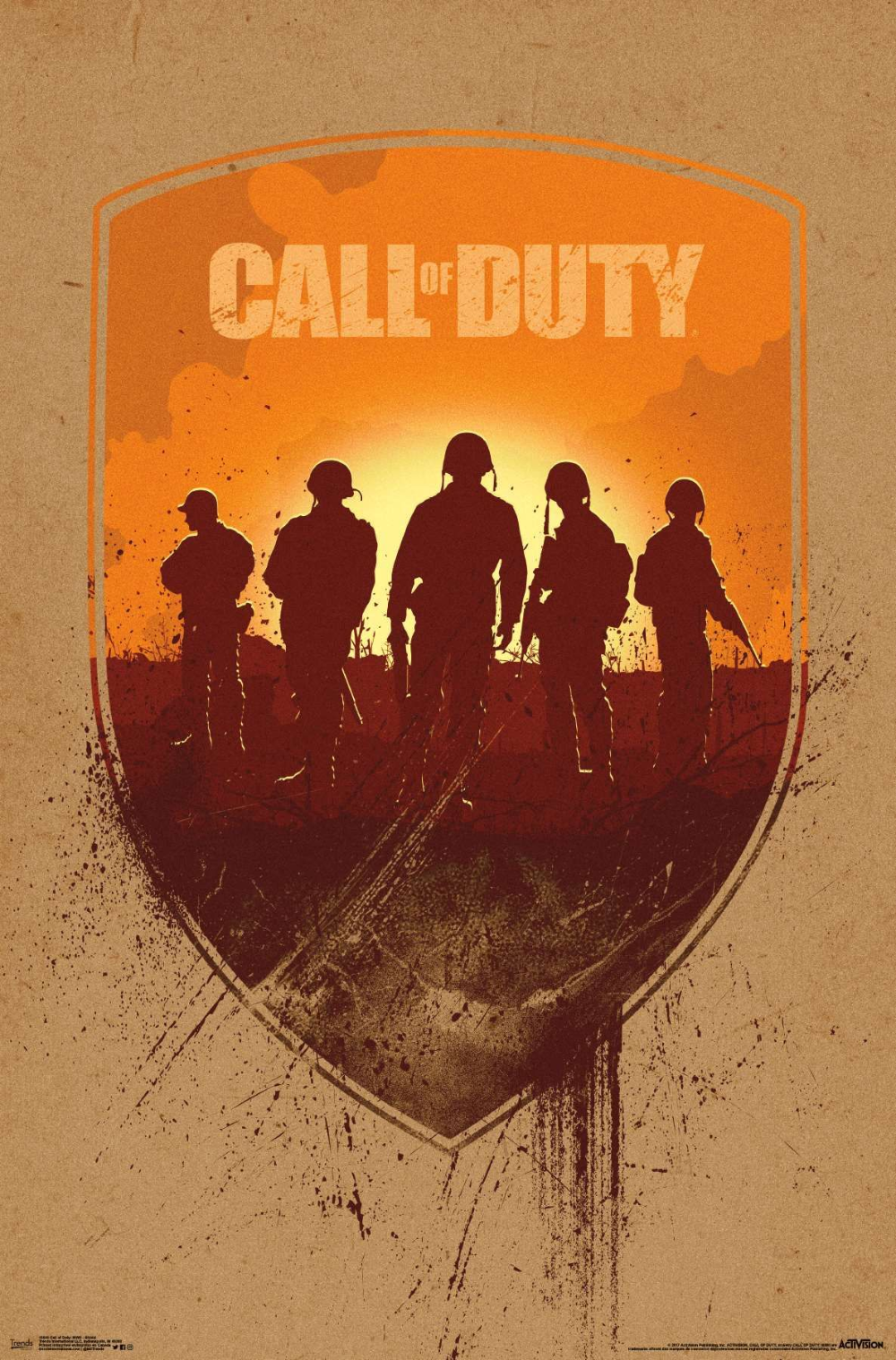 Call Of Duty Wwii Shield Call Of Duty Poster Design Poster Frame