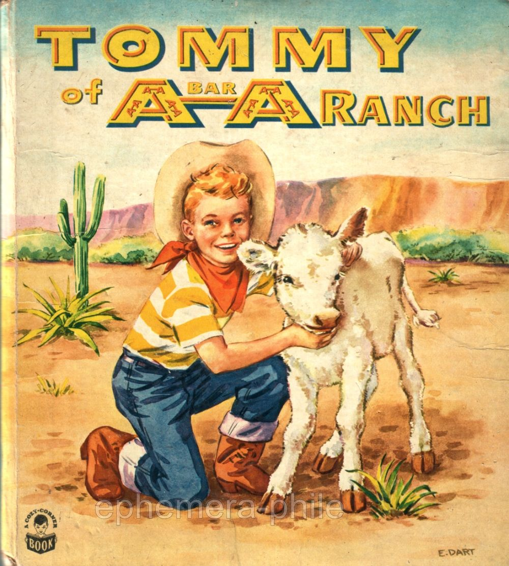 Cover, Tommy of A-Bar-A Ranch, illustr. by Eleanor Dart, Whitman  Publishing, 1951