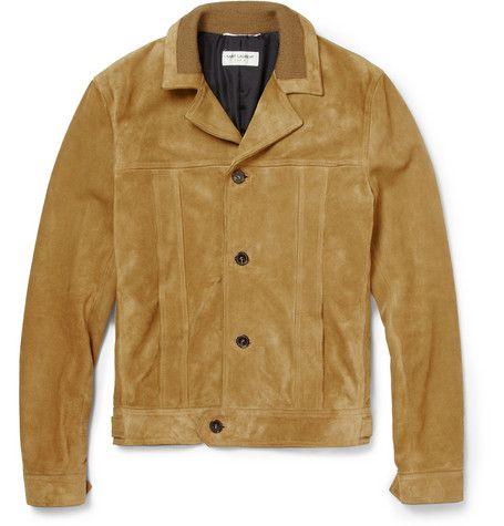 Saint Laurent Suede Jacket Designer Leather Jackets Leather Jacket Men Tan Suede Bomber Jacket