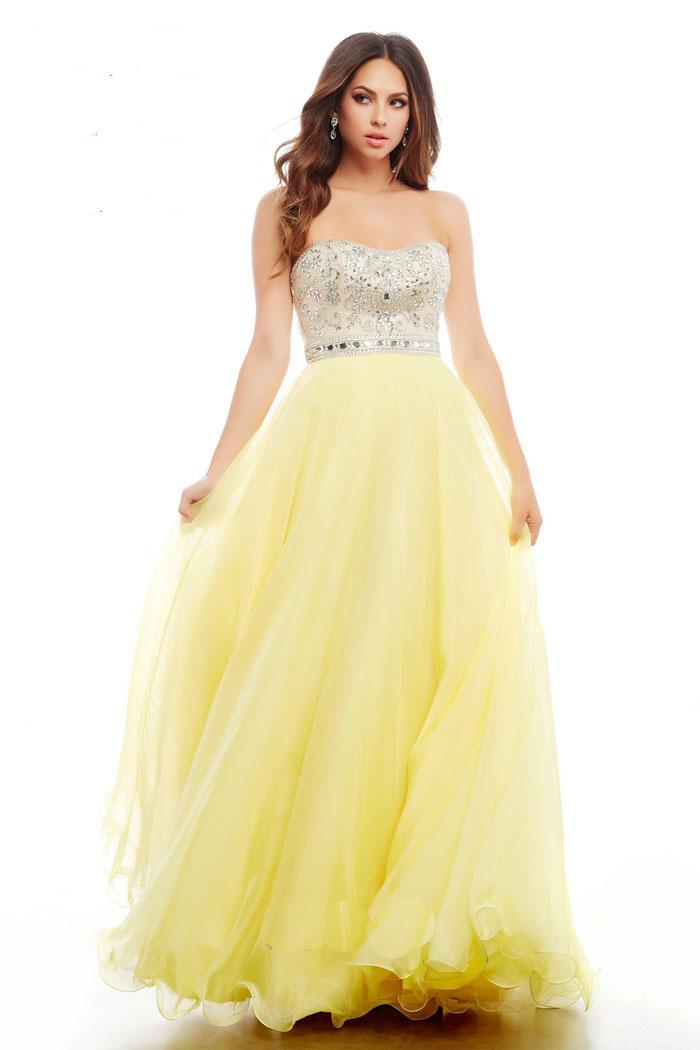 US$158.99 Wholesale 2016 Prom Dress Yellow Evening Dress mual ...