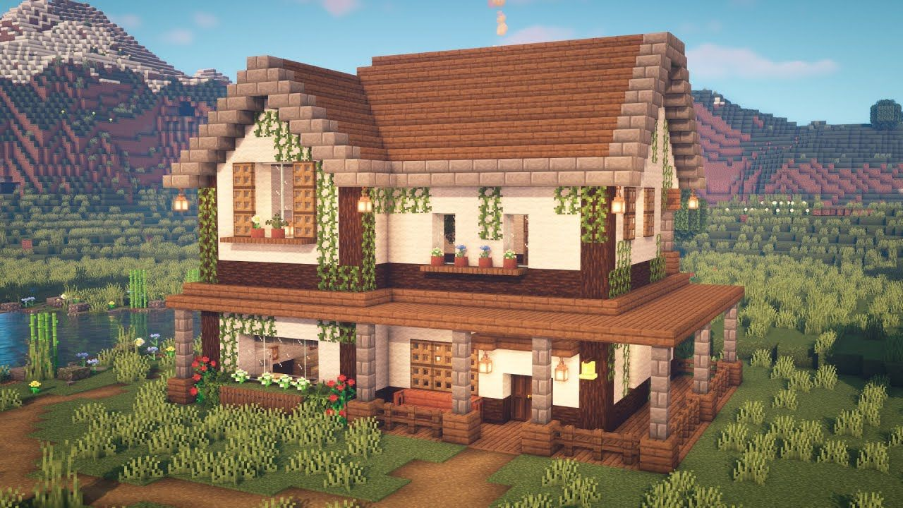 Minecraft How To Build A Farmhouse Youtube Minecraft House Plans Easy Minecraft Houses Cute Minecraft Houses