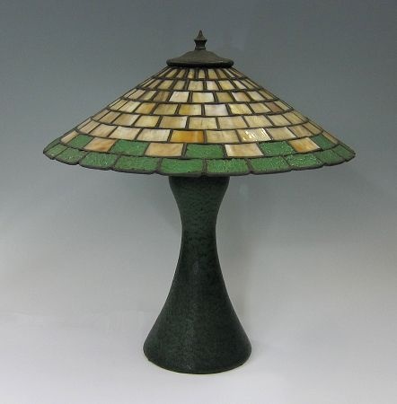 Strobl Pottery Lamp And Shade In The Arts Crafts Style Ca