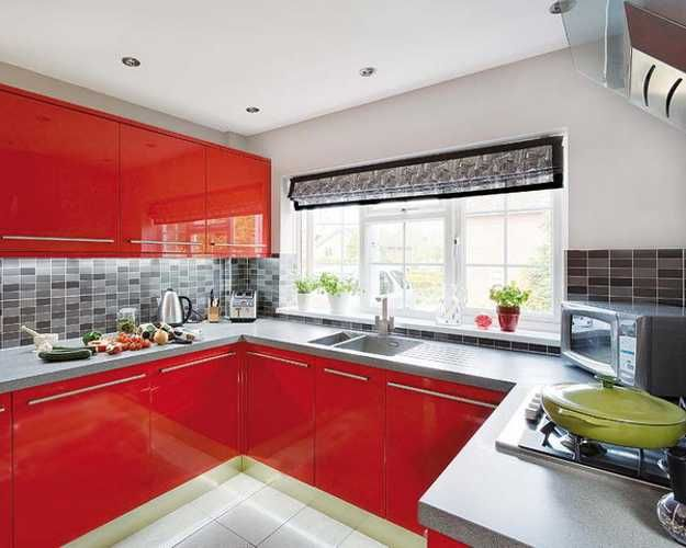 Modern Kitchen Design in Revolutionizing Bold Red Color | Modern ...