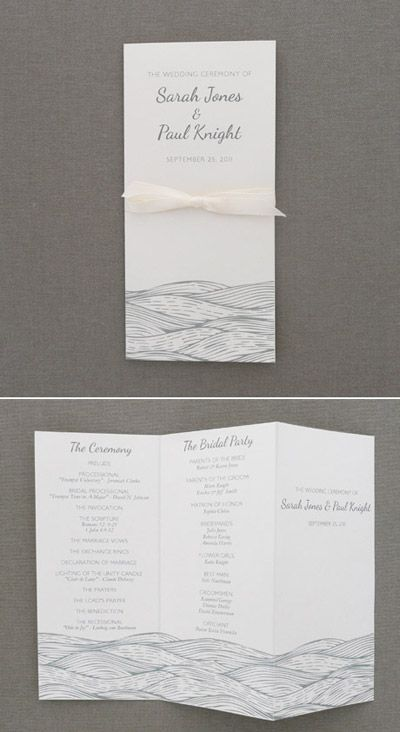 Wedding Program Template u2013 Beach Waves Design Wave design - how to design wedding program template