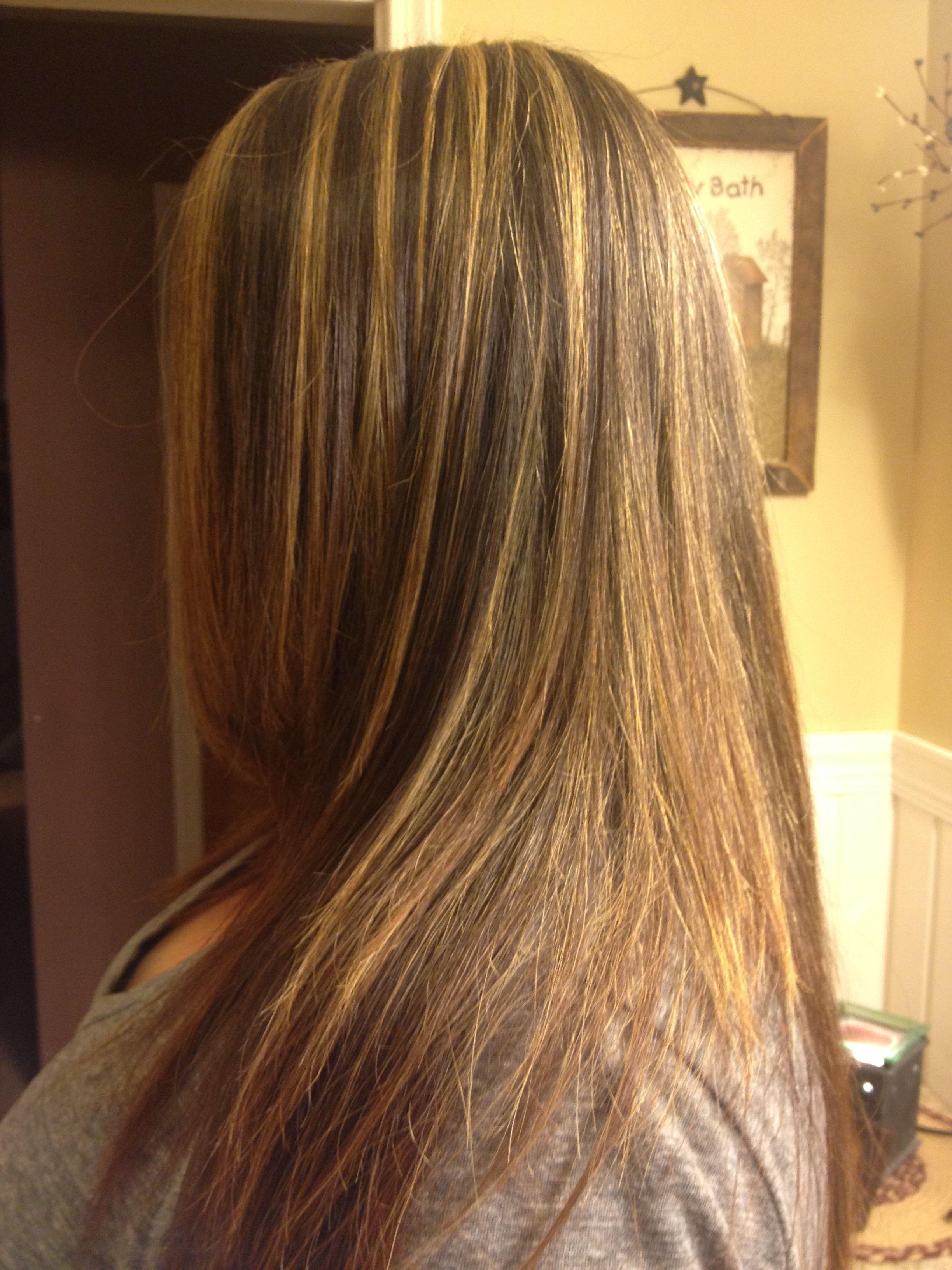 Blonde Foils On Dark Brown Hair With Ash Toner Blonde Foils