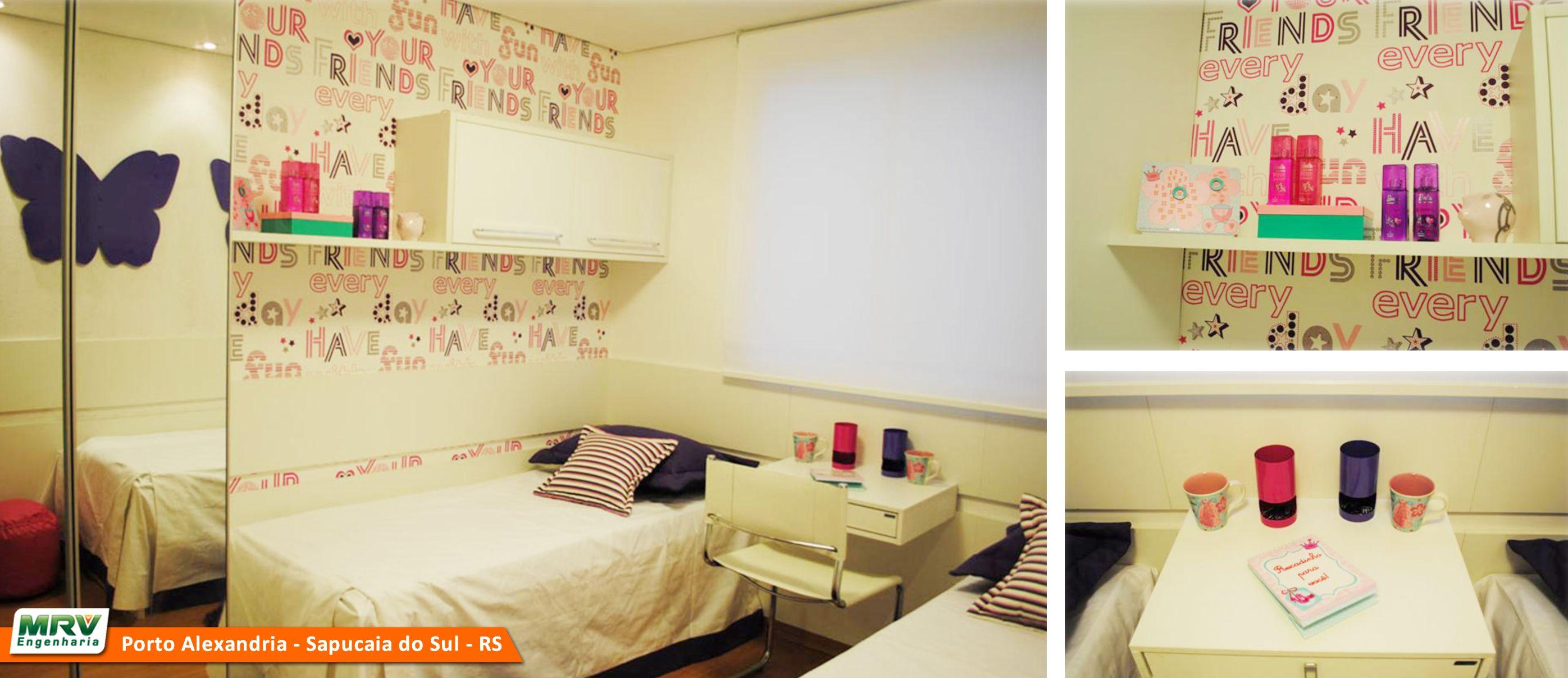 Apartamento decorado 2 dormit rios no parque porto for Cuartos decorados