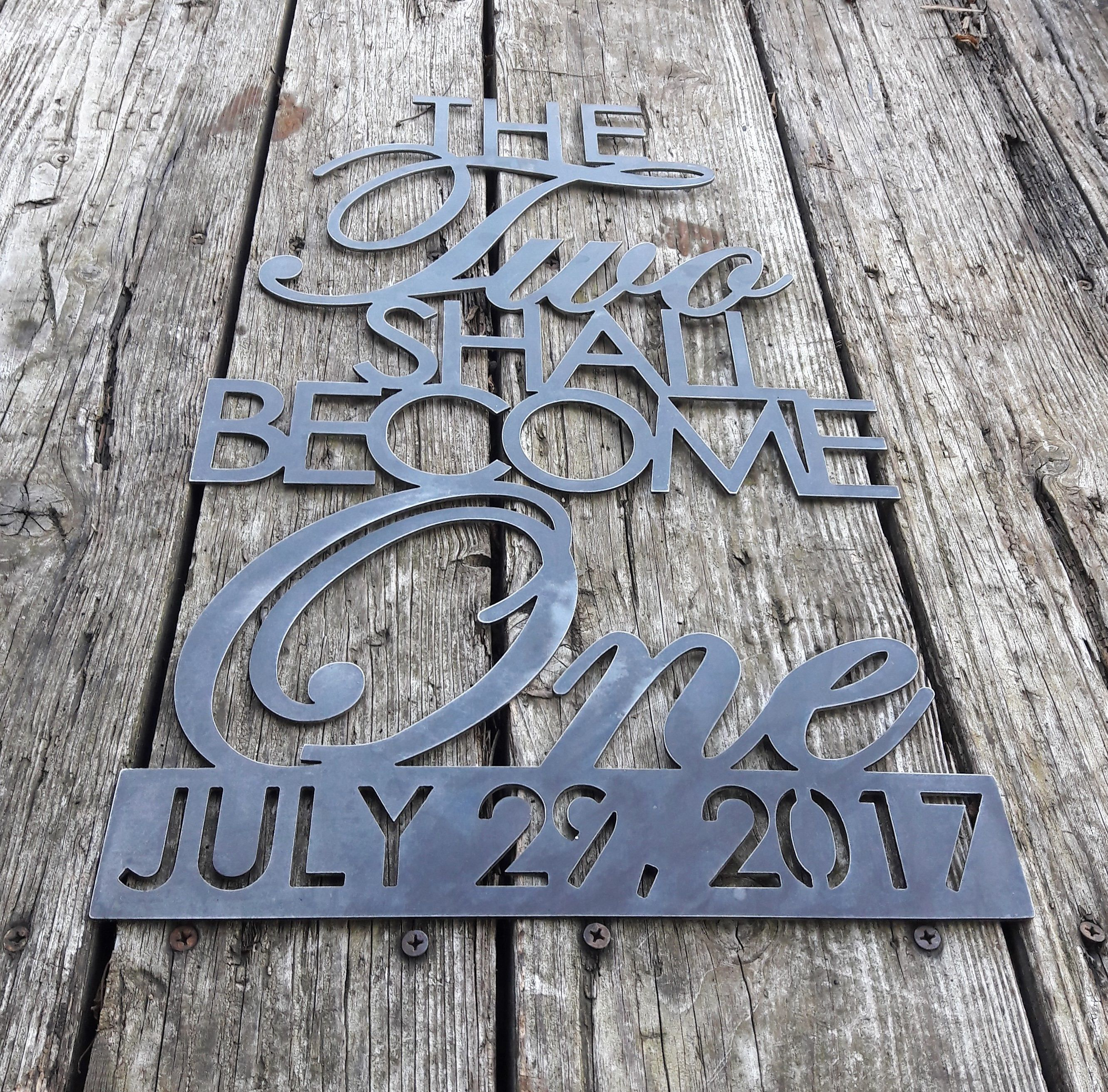 Custom Wedding Rings Anniversary Plasma cut CNC wall art Custom gift wedding