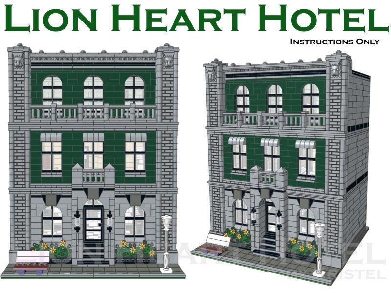 Lion Heart Hotel (Custom LEGO Modular Building) - Instructions Only ...