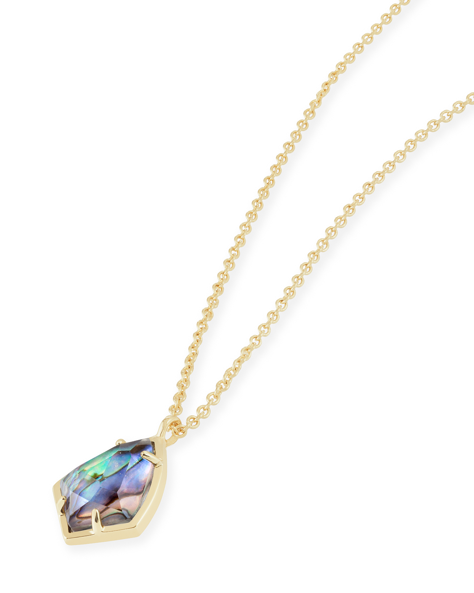 For the timeless beauty who loves an understated shine, the Cory Necklace in Abalone Shell is a delicate accessory that elevates the everyday.