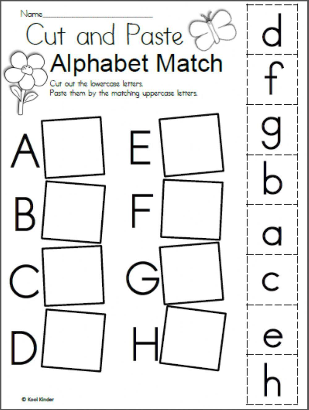 Alphabet matching interactive worksheet in 2020
