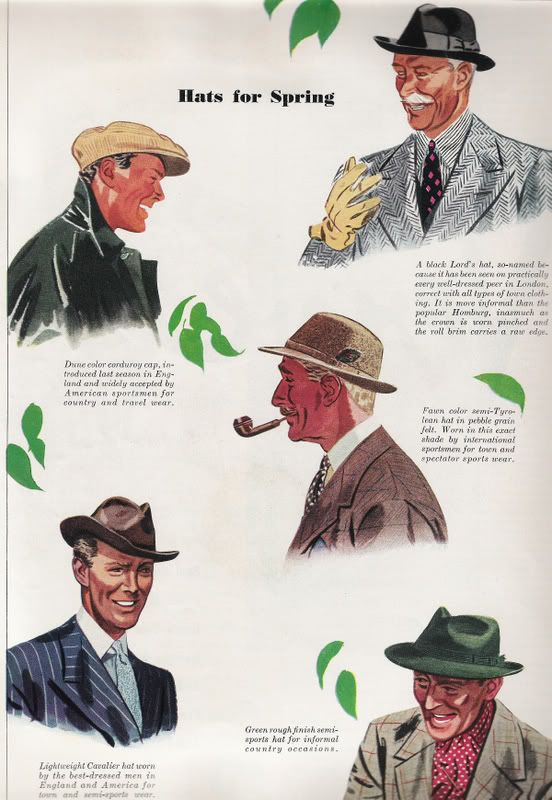 760245e5465 Esquire fashion illustrations - April 1938