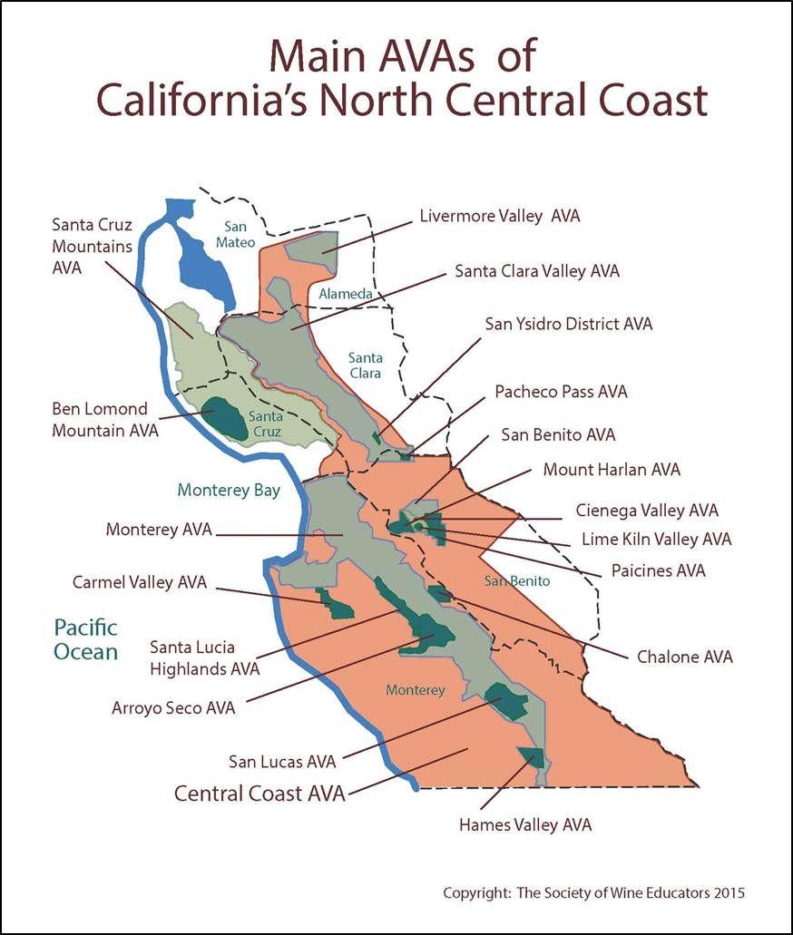 Wine Regions of Californias North Central Coast #wine