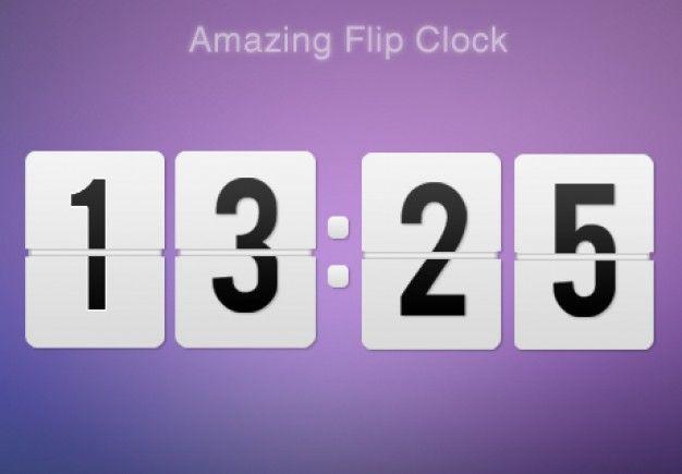 Flip Clock in various colors