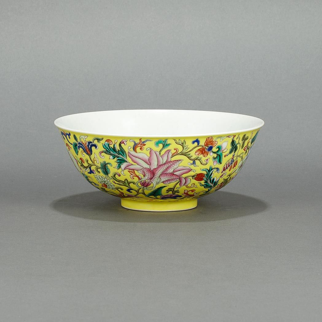 Chinese Famille Rose Enameled Porcelain Bowl 20th Century