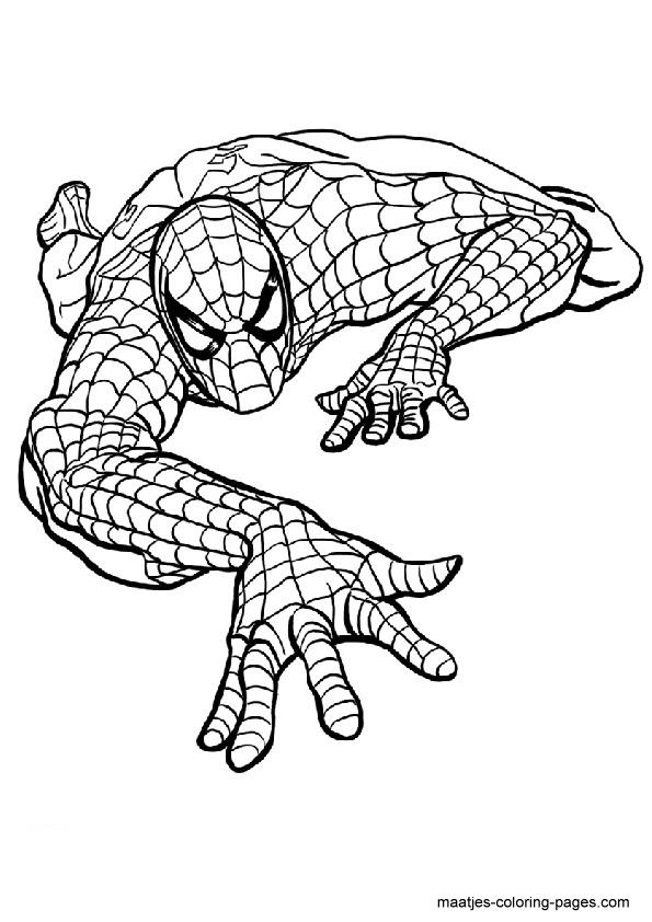 Spiderman coloring sheet | Child care | Pinterest | Kinder ...