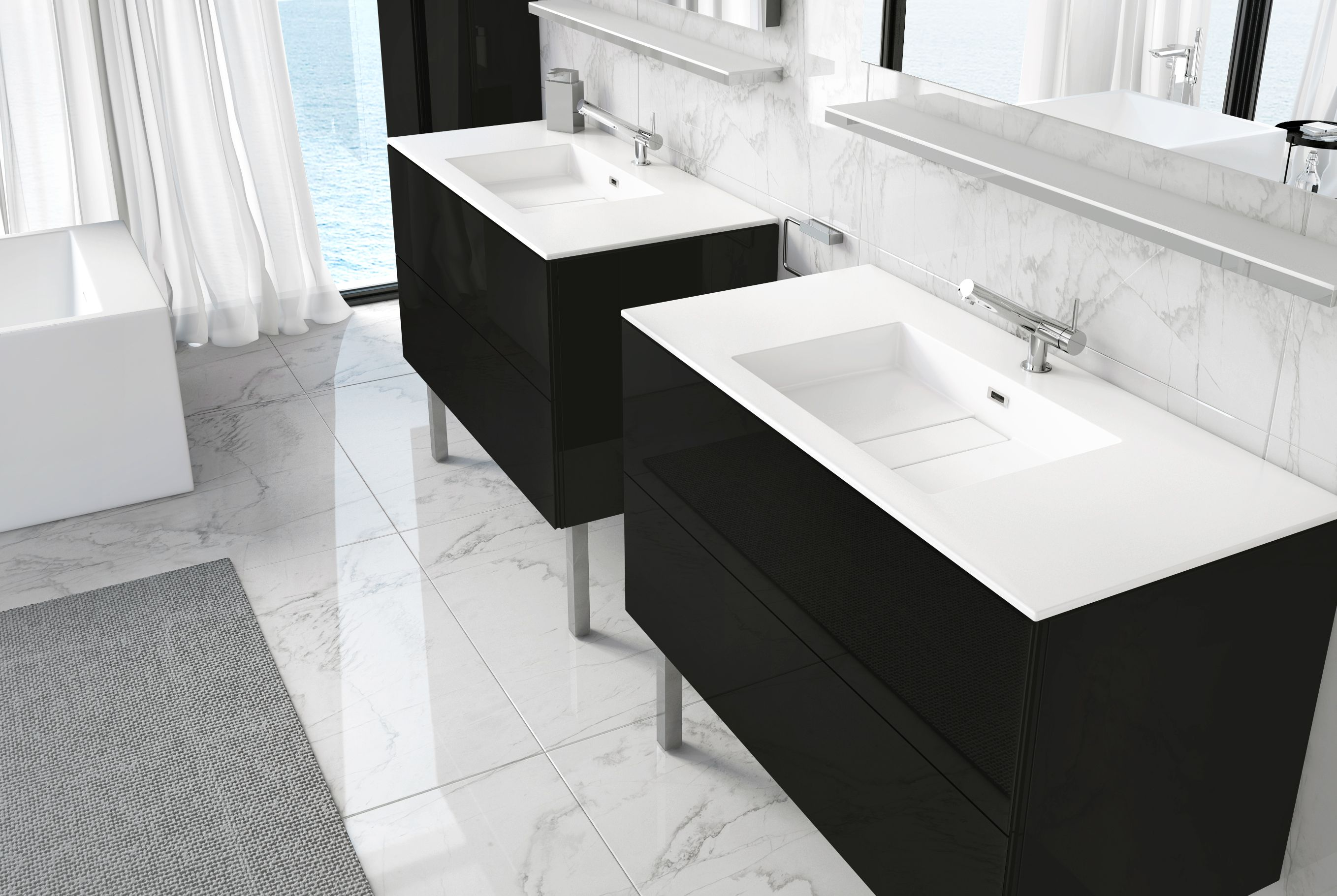 Block Evo #bathroom #furniture collection by COSMIC | FURNITURE WITH ...