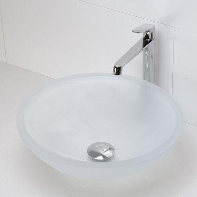 Decolav Translucence Round 19mm Glass Vessel Bathroom Sink Sink