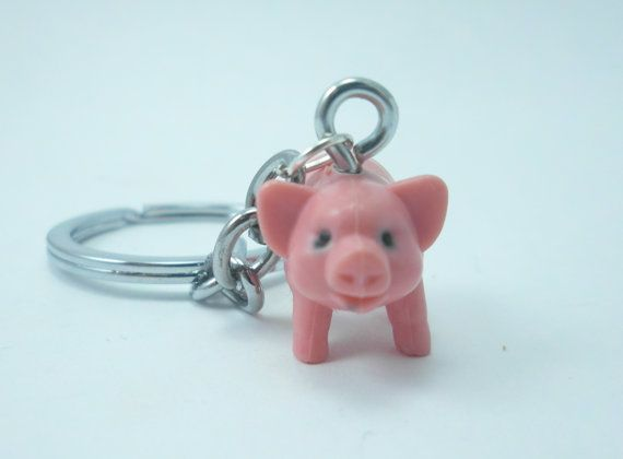 Pink Pig Keychain 7ea3276b017c