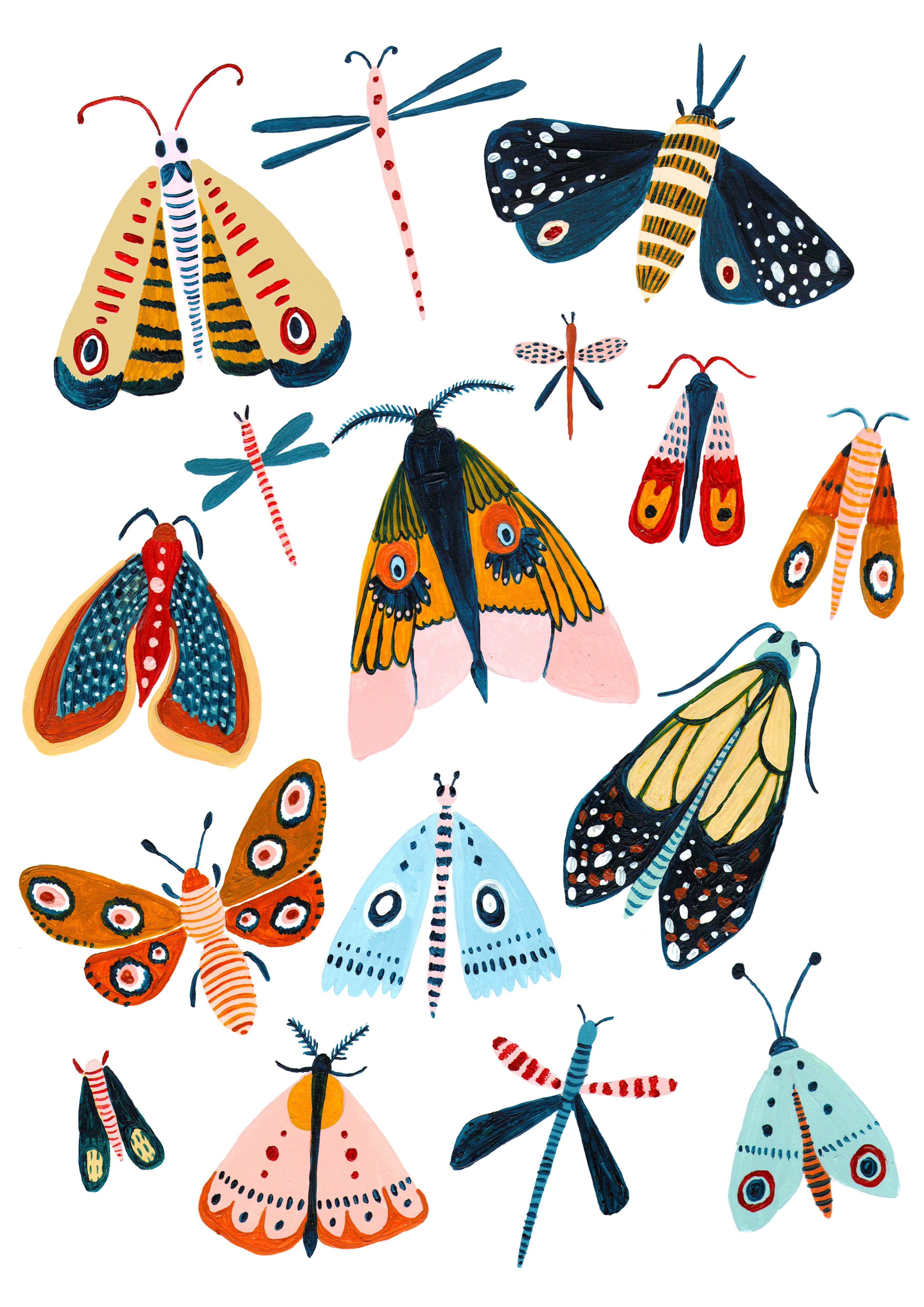 The Design- - A playful Woodland design featuring all the best moth species. - This wall art was designed to add a splash of nature to your home. - It makes a great gift for a new home, a new baby, or maybe just a gift for yourself! - I love to illustrate Animals, Nature and Travel. I'm inspired by my love of botanical gardens, nature books and my cats of course. #travelbugs