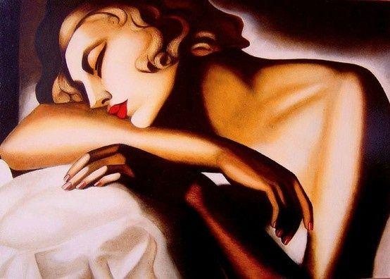 Sleeping woman by tamara de lempicka called
