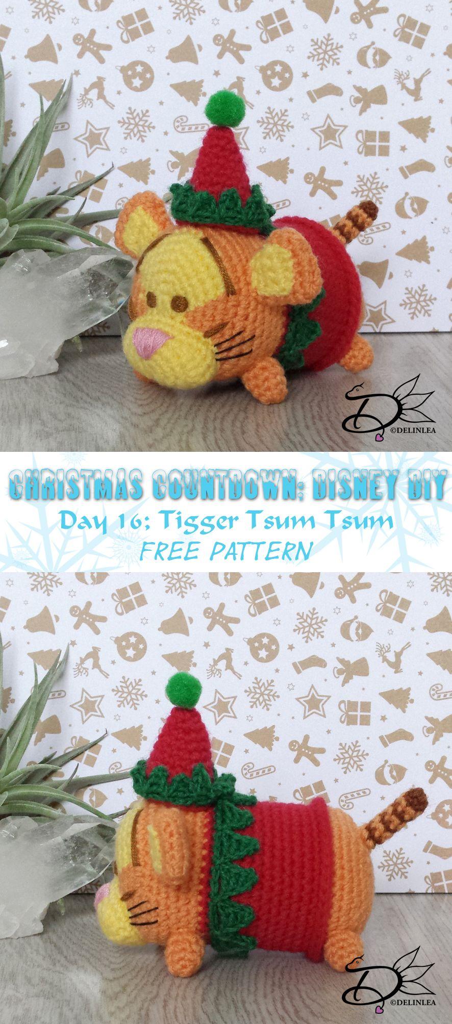 ♥ Day 16: Tigger Tsum Tsum Amigurumi - Delinlea - My little fantasy ...