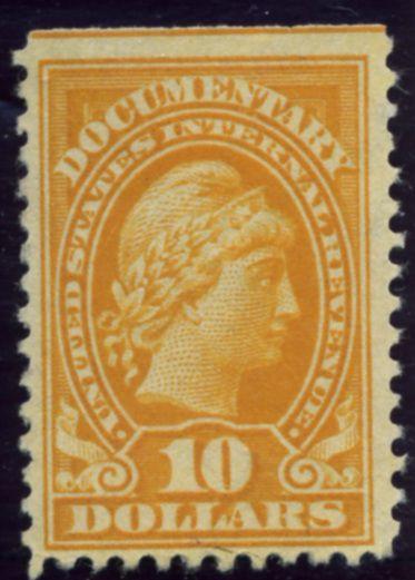 R245 10 Dollar Internal Revenue Documentary Stamp Watermarked USIR A