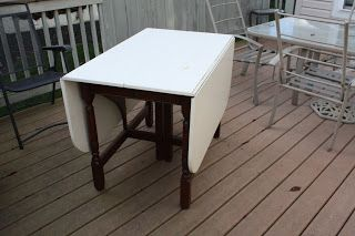 The Black Sheep Shoppe: Whitney birch table circa 1948. I plan to refinish the top and paint the base.