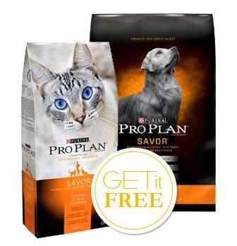 Free Bag Of Purina Pro Plan Dog Or Cat Food At Petco Purina Pro Plan Dogs Cat Food Dog Food Recipes