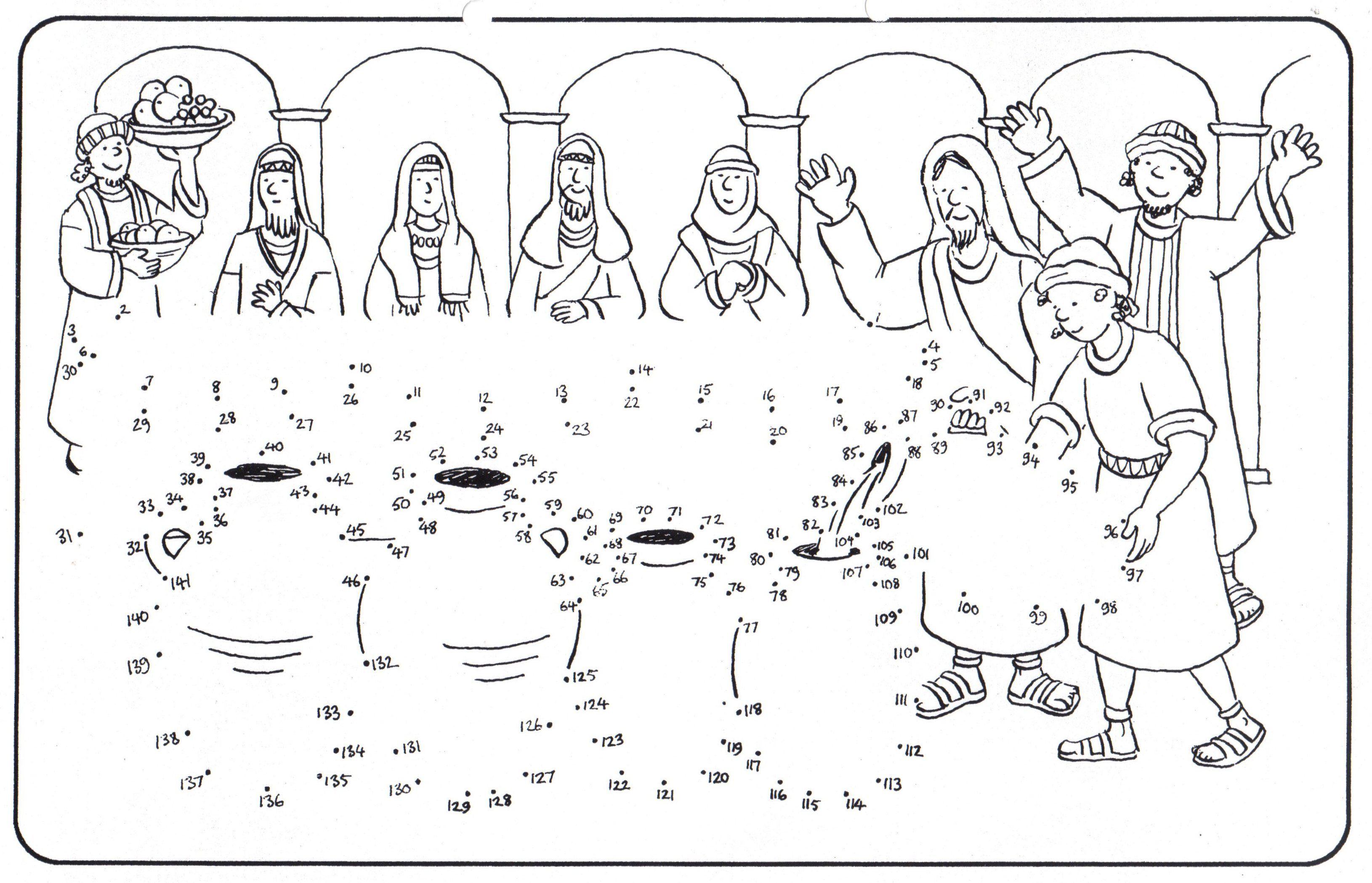 Bijbelse Kleurplaten Pasen.Mooi Bijbelse Kleurplaten Bruiloft Te Kana Klupaats Website