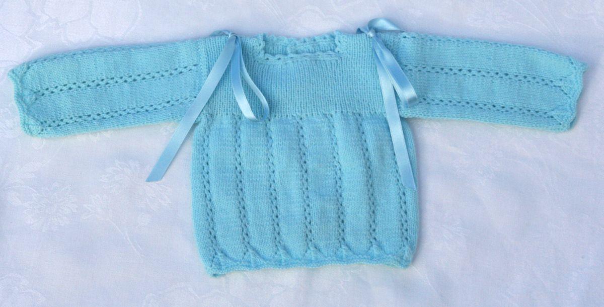 De punto y faldones para beb s hechos a mano jerseys - Patrones jerseys de punto hechos a mano ...