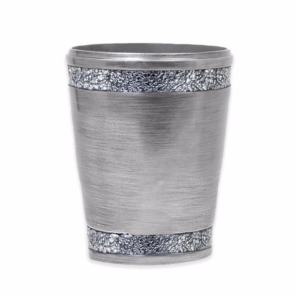 Silver Bathroom Trash Can Home