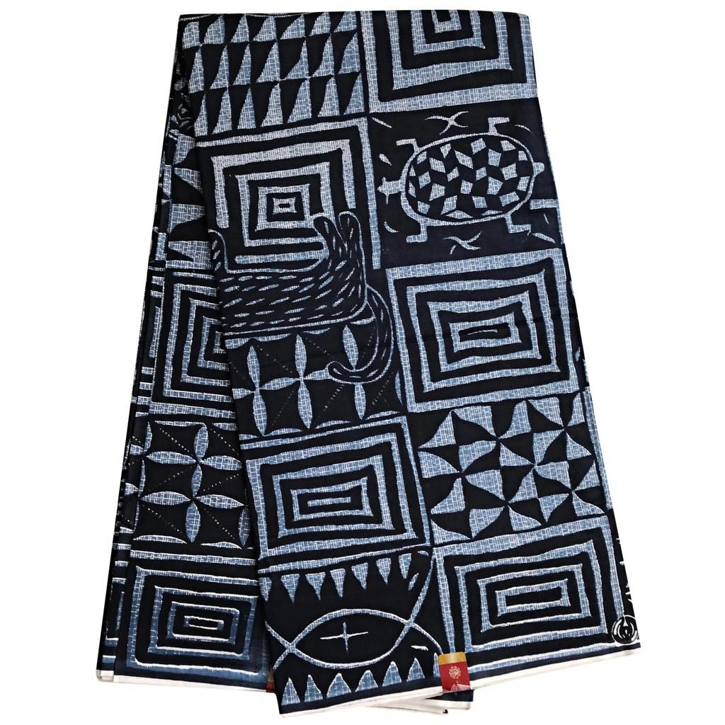 African Print Fabric Tribal African Wax Print 6 Yards 100/% Cotton African Printed Dresses and Head tie for Men /& Women