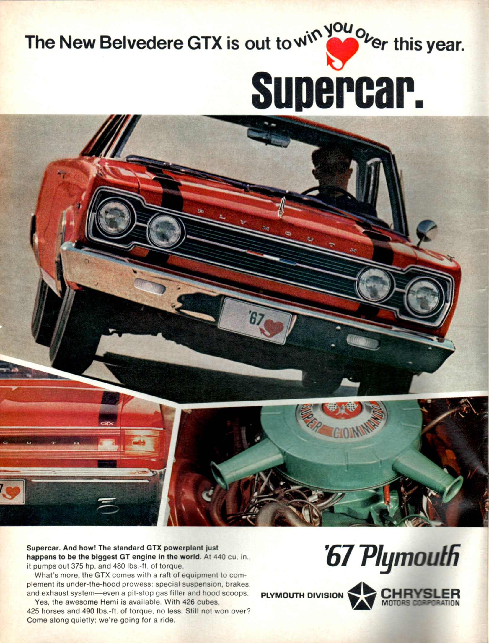 1967 Plymouth Belvedere GTX advertisement