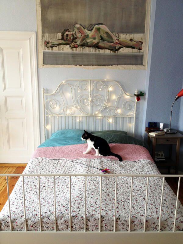 leirvik - headboard lights!   B is for Beautiful Bedrooms!   Pinterest